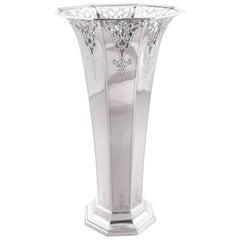 Sterling Reticulated Vase