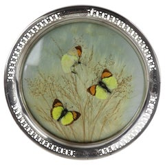 Sterling Rim Butterfly Tray