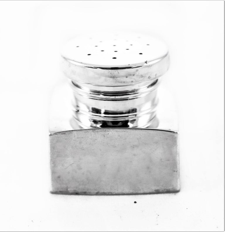 Mid-Century Modern Sterling Salt and Pepper Shakers For Sale