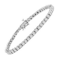 Sterling Silver 1.0 Cttw Miracle-Set Lab-Grown Diamond Tennis Bracelet