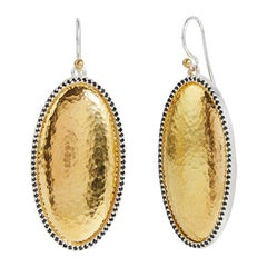 Sterling Silver & 24KY Gold Earrings