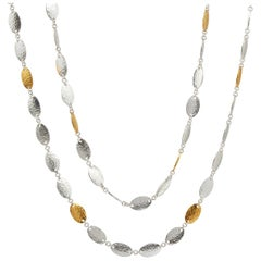 Sterling Silver & 24KY Mango Flake Necklace