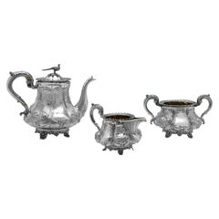 Sterling Silver 3-Piece Tea Set