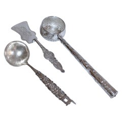 Sterling Silver 3 Pieces, Peruvian Serving Set