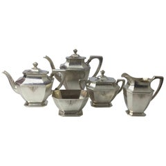 Sterling Silver 5-Piece Tea Set by Wallace, circa 1905