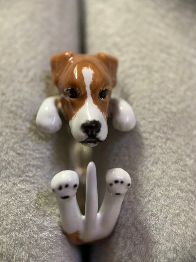 Sterling Silver 925 Enamel Jack Russell Dog Customized