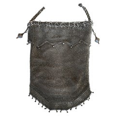 Sterling Silver .925 Mesh Evening Bag Purse