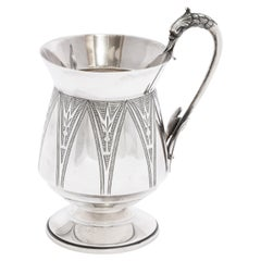 Sterling Silver Aesthetic Movement Mug/Cup by Wood & Hughes