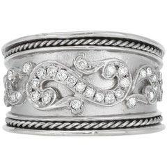 Sterling Silver and Diamond Band