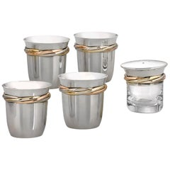Sterling Silver and Gilt Tequila Set by Cartier