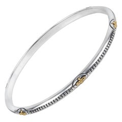Sterling Silver and Gold Astria Bangle Bracelet