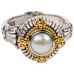 Sterling Silver and Gold Pearl Ring