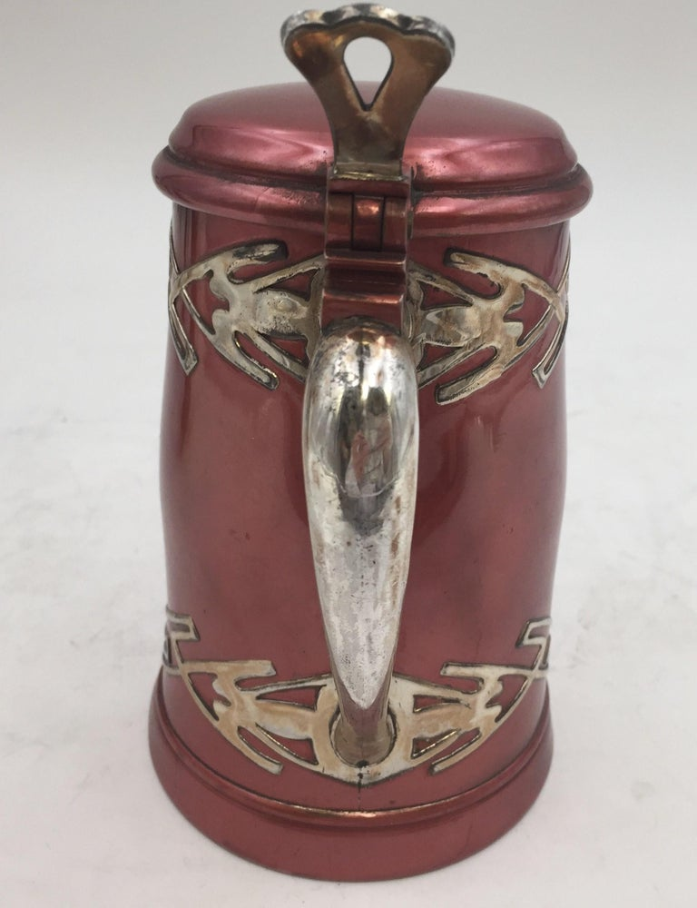 American Sterling Silver and Metal Bar Tankard by W. J. Braitsch For Sale