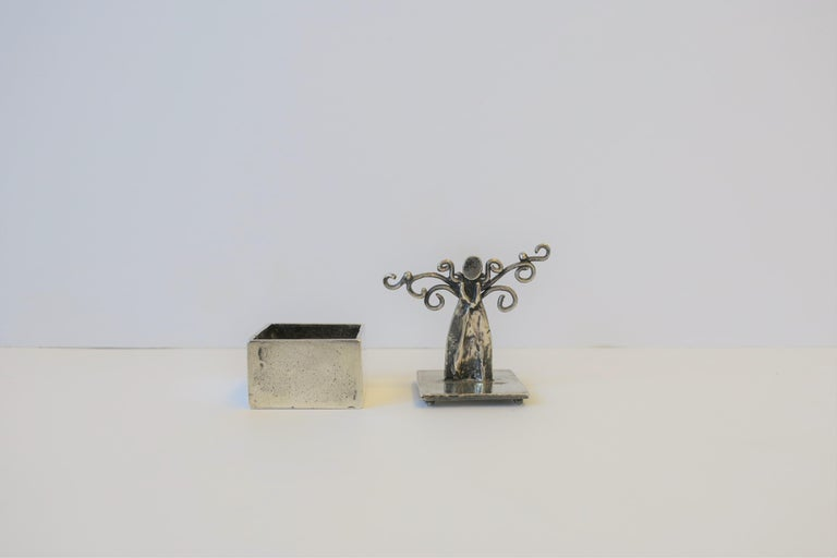 European Sterling Silver Angel Box For Sale