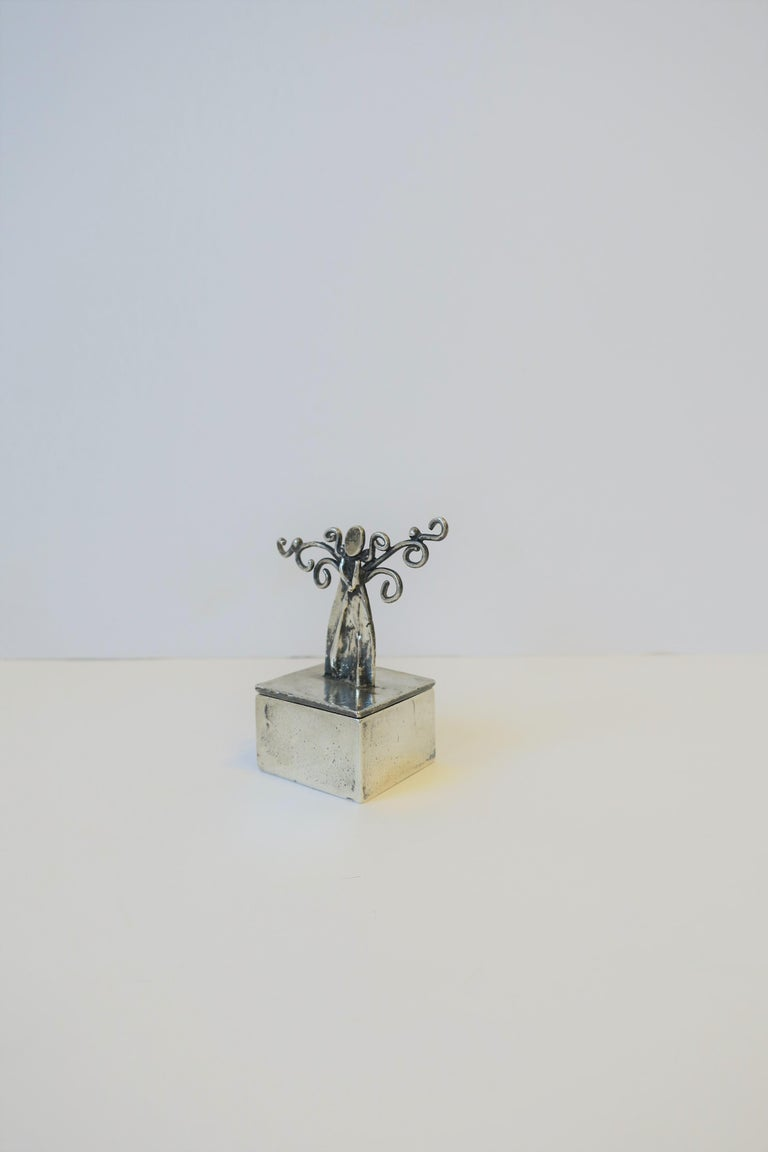 Hand-Crafted Sterling Silver Angel Box For Sale