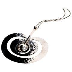 Sterling silver apple pendant designed by Tapio Wirkkala Finland