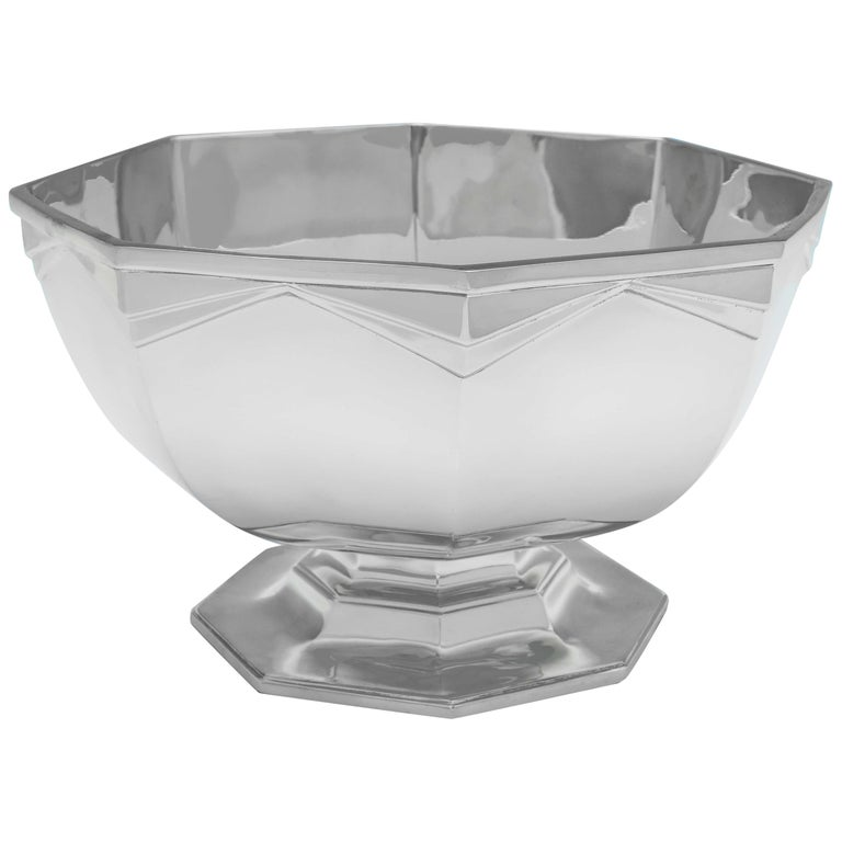 Sterling Silver Art Deco Bowl For Sale