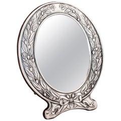 Sterling Silver Art Nouveau Mirror
