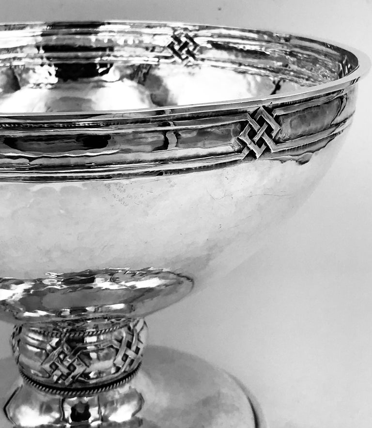 English Sterling Silver Arts & Crafts Bowl For Sale