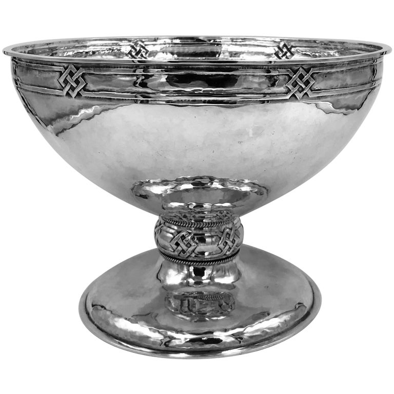 Sterling Silver Arts & Crafts Bowl For Sale