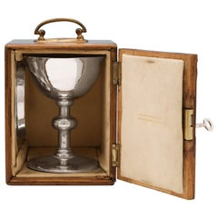 Sterling Silver Arts & Crafts Chalice and Paten by the Artificers Guild in 1924