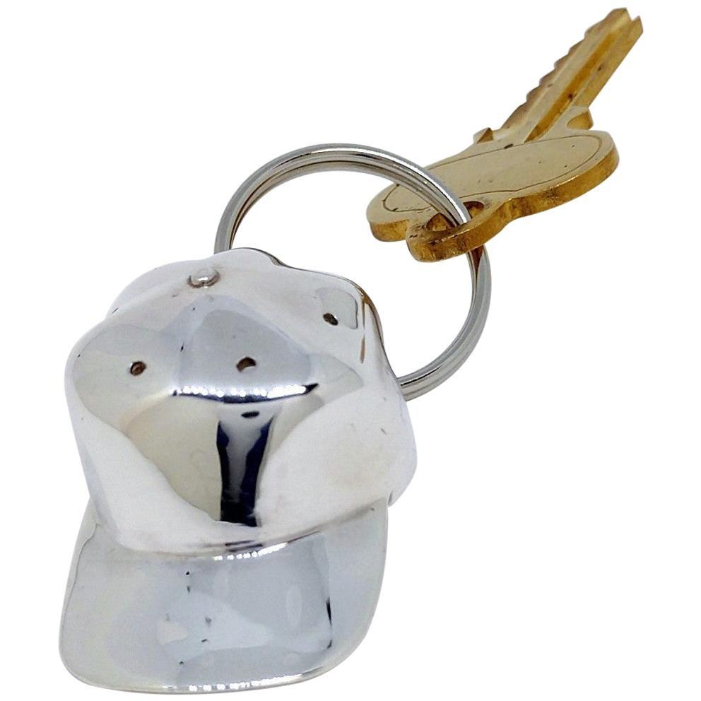 Sterling Silver Baseball Hat Key Ring Holder
