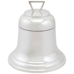 Sterling Silver 'Bell' Inkwell, Antique George V, 1928