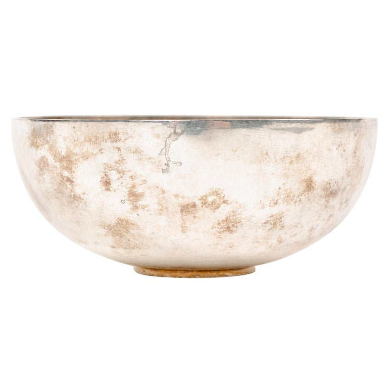 Sterling Silver Bowl by Piet Hein for Georg Jensen For Sale