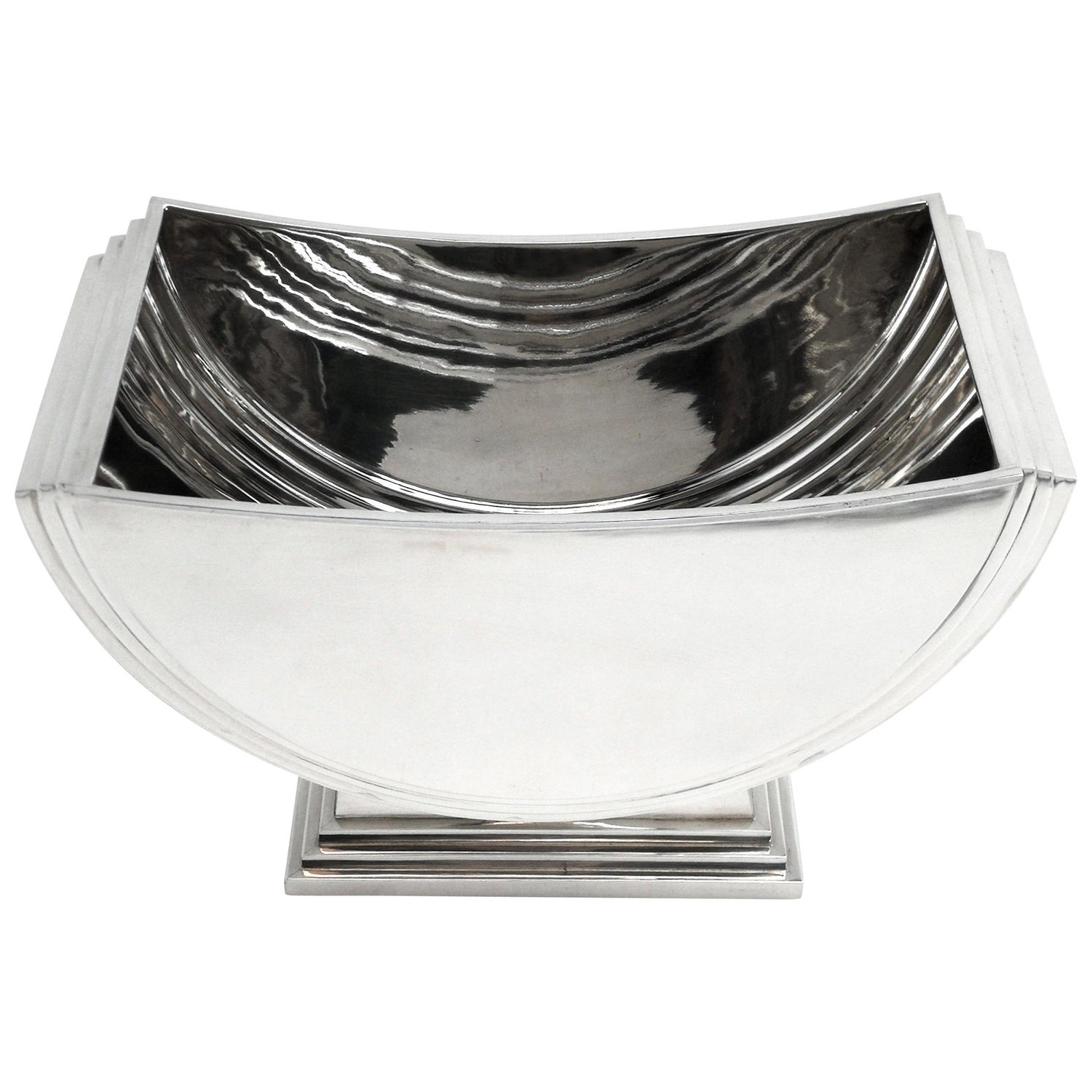 Sterling Silver Bowl / Champagne Cooler Art Deco Style 2013 Wine Ice Bucket