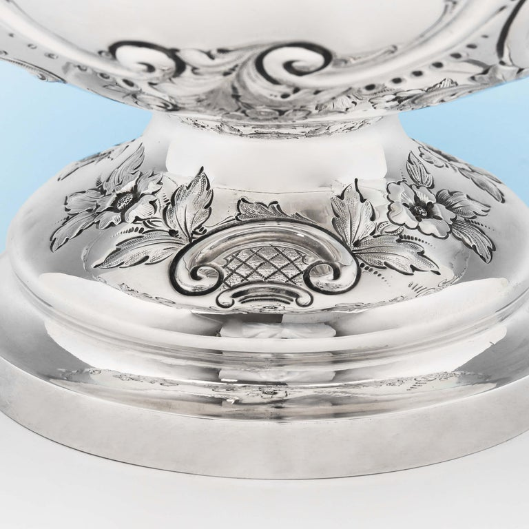 Late 19th Century 19th Century Victorian Sterling Silver Bowl by Barnards For Sale