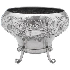 Attributed to Latino Movio Sterling Silver Centrepiece Gilbert Marks Influence