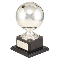 Sterling Silver Bowling Ball Mounted as Trophy by the House of Williams