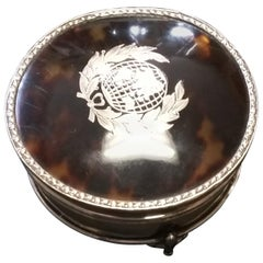 Sterling Silver Box with Tortoise Shell, circa 1910