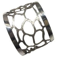 Cuff Bracelet, Giraffe, Sterling Silver, Handmade, Italy