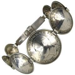 Sterling silver Bracelet Coin 1943 Australian shilling