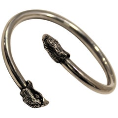 Eagle, Cuff Bracelet, Sterling Silver, Handmade, Italy