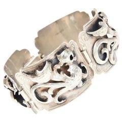 Sterling Silver Bracelet Signed Vintage