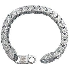 Sterling Silver Bracelet W/ CZ Gem Set