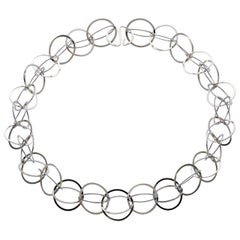 """Sterling Silver """"Bubbles"""" Link Necklace"""