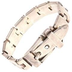 Sterling Silver Buckle Bracelet Vintage