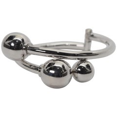 Sterling Silver Bypass Ball Bangle Bracelet