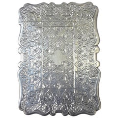 Sterling Silver Calling Card Case by Robert Mitchell Birmingham, 1867