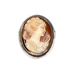 Sterling Silver Cameo Pin or Pendant