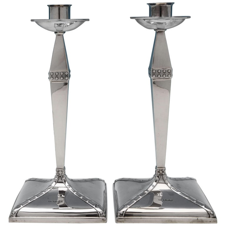 Sterling Silver Candlesticks For Sale