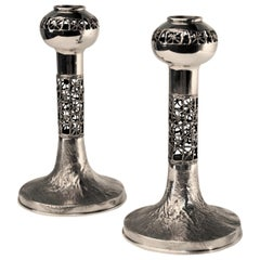Sterling Silver Candlesticks from Pentti Sarpaneva, 1969
