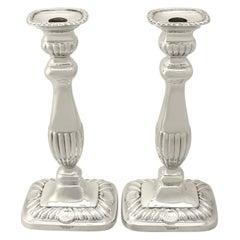 Sterling Silver Candlesticks, Regency Style, Vintage George VI
