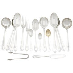 Sterling Silver Canteen of Cutlery for 12 Persons