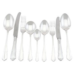 Sterling Silver Canteen of Cutlery for Six Persons, 2002