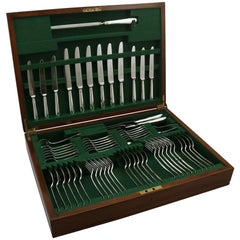 Sterling Silver Canteen of Cutlery for Six Persons
