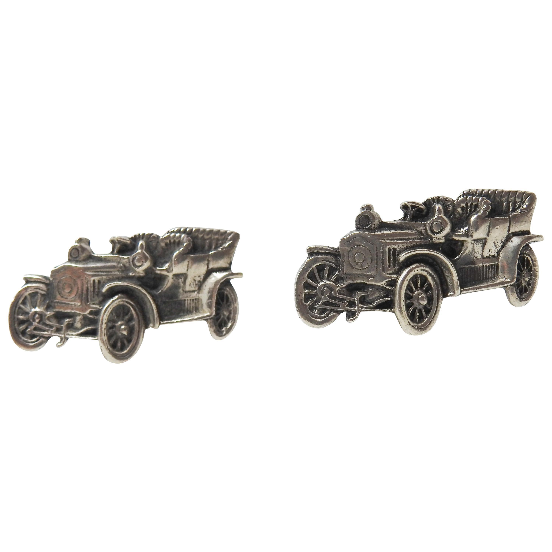Sterling Silver Car Cufflinks